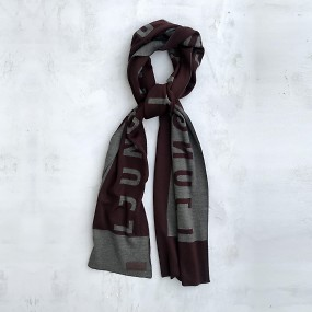 Large wool scarf röd